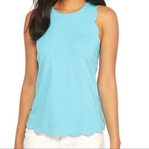 Crown and Ivy Scallop Hem Tank Top NWT